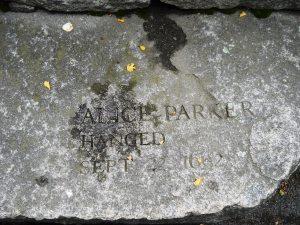 Alice Parker-hanged 1692