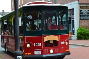 One of Many Downtown Salem Trolley Cars